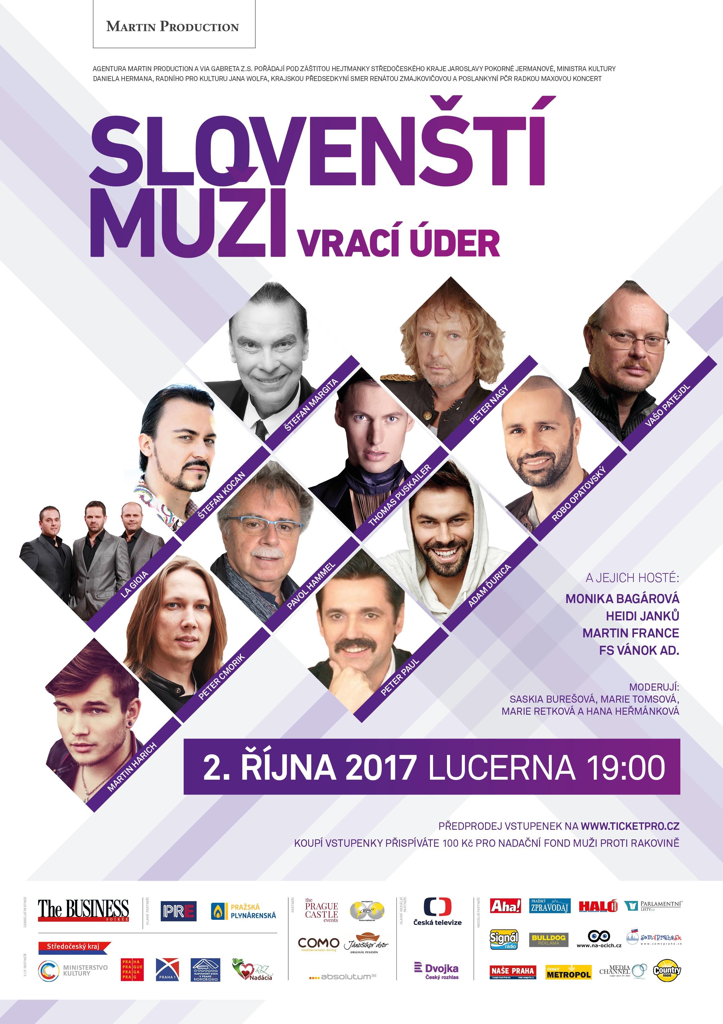 Koncert: Slovenští muži vrací úder