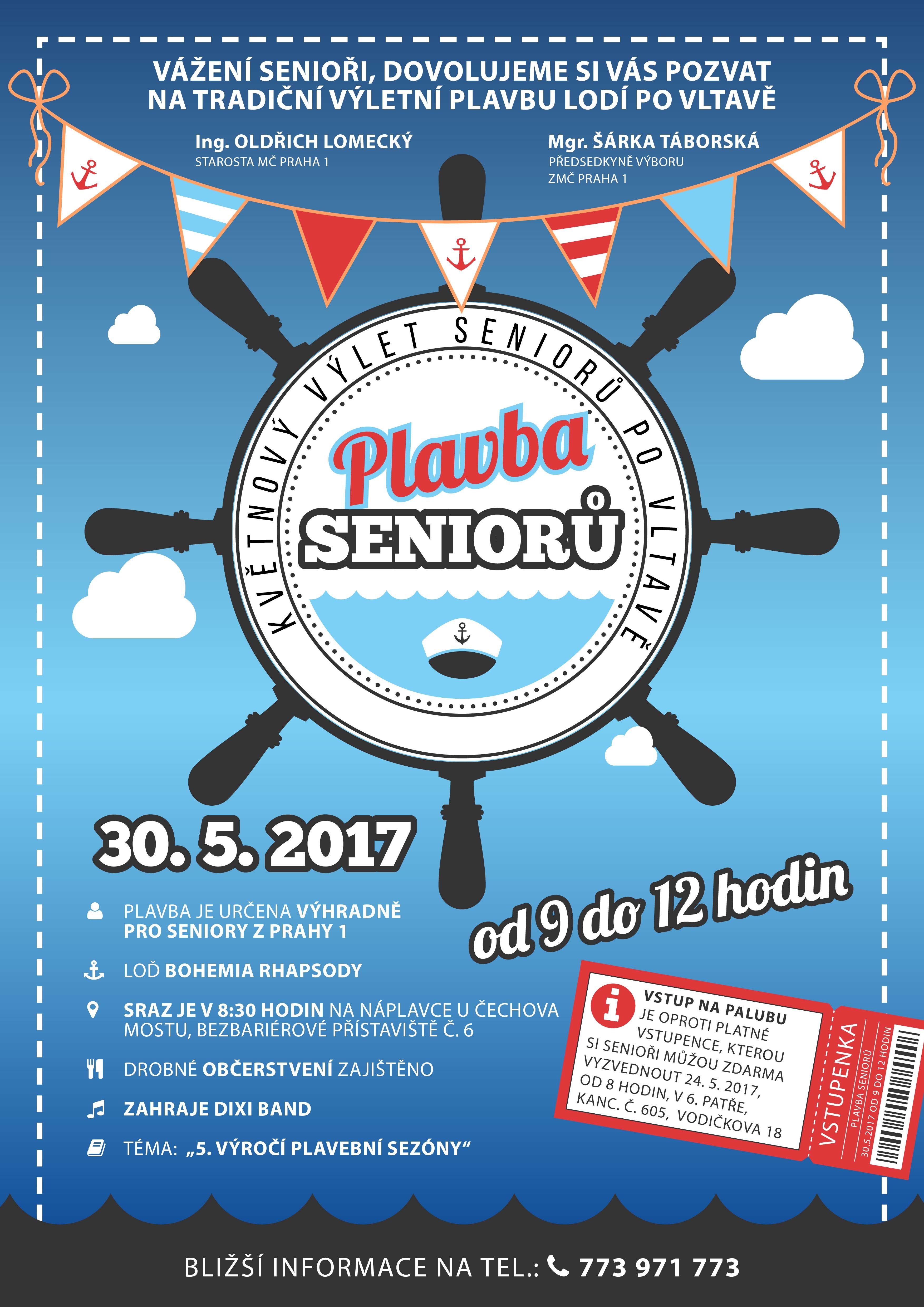 Plavba seniorů