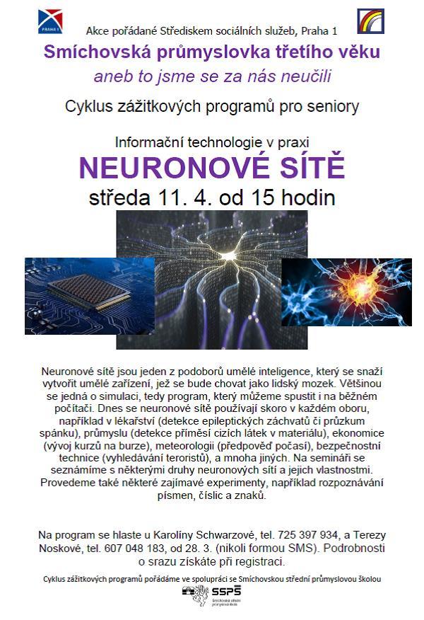 Neuronové sítě 11.4.2018