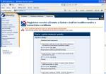 """Screenshot okna prohlížeče """"Žádost o kvalifikovaný a komerční certifikát"""""""