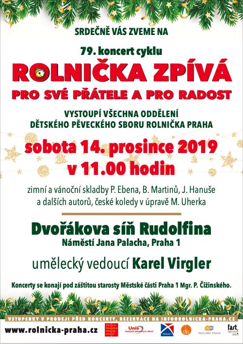 pozvánka na koncert dětského pěveckého sboru Rolnička Praha