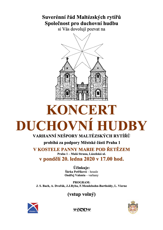 Pozvánka na koncert duchovní hudby